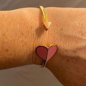 Kate Spade Heart cuff bangle in pink